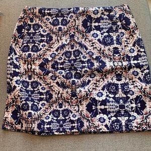EUC - Structured cotton skirt